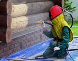 Пескоструйная шлифовка деревянных домов и срубов